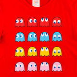 PAC-MAN 4 Ghosts 4 Directions Red Oversized T-Shirt