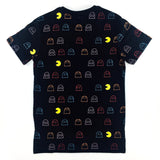 PAC-MAN All-Over Ghost Catching Black Oversized T-Shirt