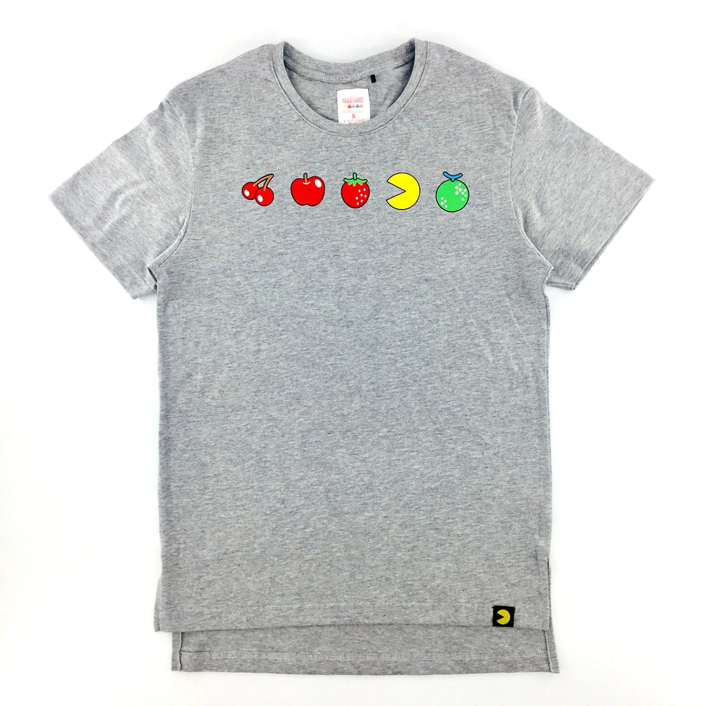 PAC-MAN Fruit Bonus Melange Grey Oversized T-Shirt