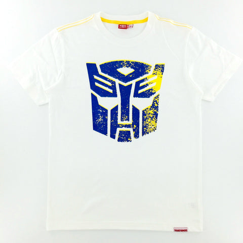 TRANSFORMERS Distressed Autobots Logo White T-Shirt
