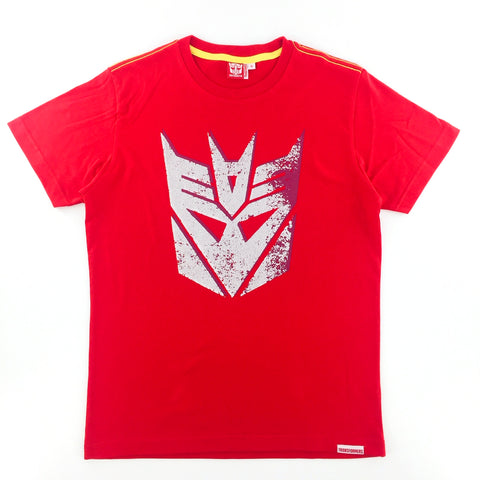 TRANSFORMERS Distressed Decaptacons Logo Red T-Shirt
