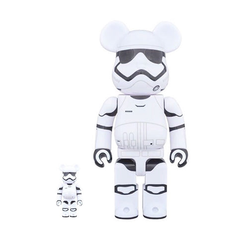BEARBRICK 400% + 100% Star Wars The Force Awakens First Order Stormtrooper