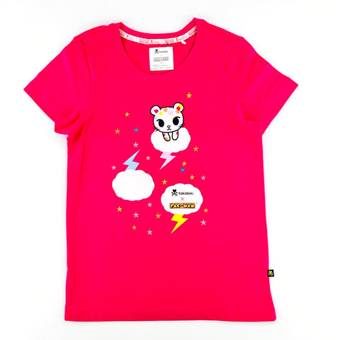 Tokidoki x Pac-Man Palette Cat Female Pink T-Shirt
