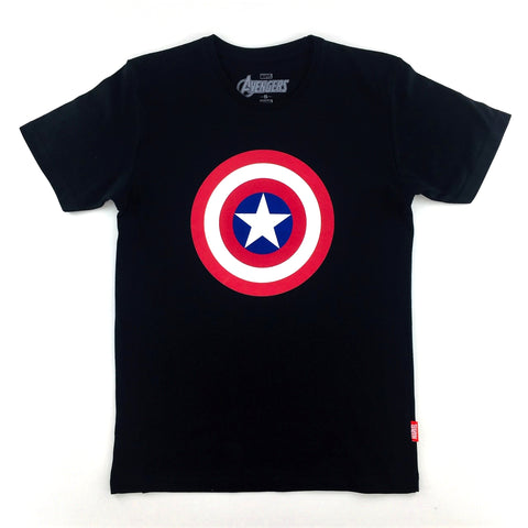 PREMIUM Marvel x urban TEE CAPTAIN AMERICA SHIELD LOGO T-Shirt