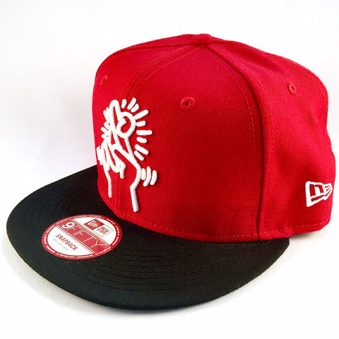 Keith Haring Finger Red New Era 9Fifty Snapback Cap