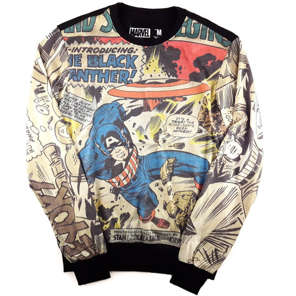 Marvel Comics Captain America Lightweight Sweater