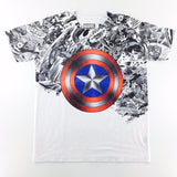 Marvel Captain America Shield Sublimation T-Shirt