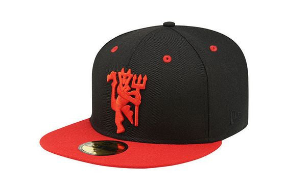 Manchester United Red Devil Black & Red New Era 59Fifty Fitted Cap