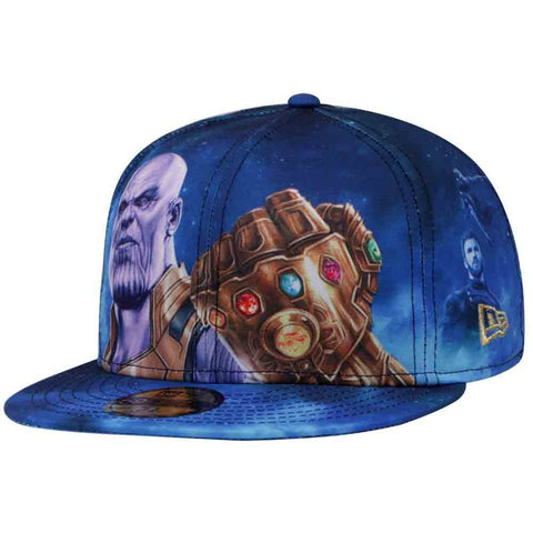 Marvel Avengers Infinity War Thanos All-Over New Era 59Fifty Fitted Cap ... 90801cf8152