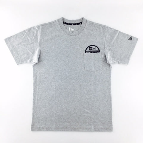 New Era 59Fifty Fitted Sticker Pocket Grey T-Shirt