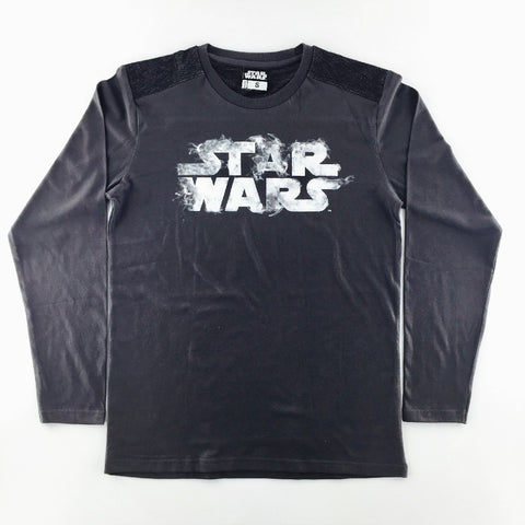 Star Wars Smoke Effect Logo Long Sleeves T-Shirt
