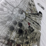 Star Wars Millennium Falcon Watercolor T-Shirt