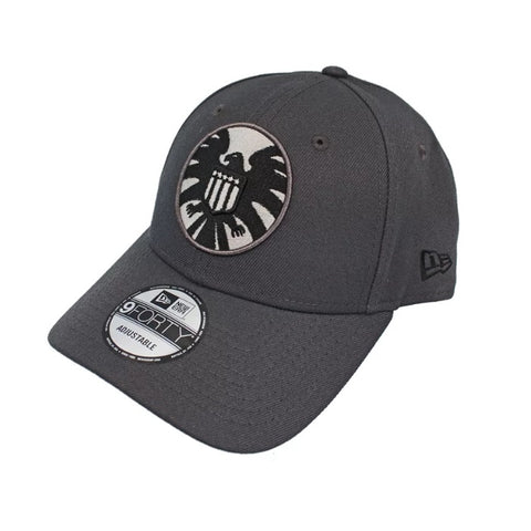 Marvel SHIELD Logo New Era 9Forty Dark Grey Strapback Cap