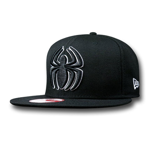 Marvel Black Spider-Man Logo New Era 9Fifty Snapback Cap