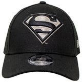 DC Comics Superman Silver Logo New Era 9Forty Strapback Cap