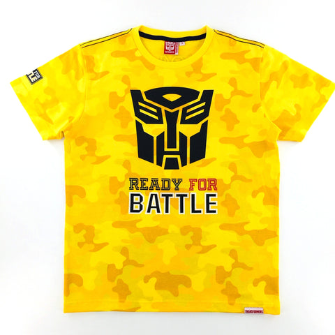 TRANSFORMERS Autobots Ready for Battle Yellow Camo T-Shirt