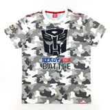 TRANSFORMERS Autobots Ready for Battle Grey Camo T-Shirt