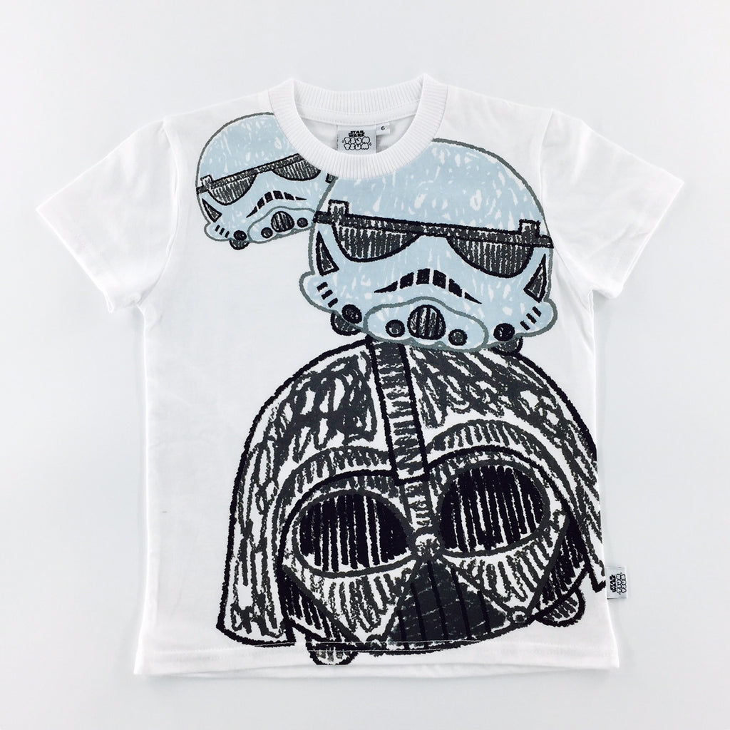 Tsum Tsum Star Wars Darth Vader & Stormtrooper Sketch T-Shirt (KIDS)