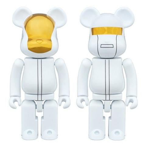 BEARBRICK 200% Chogokin Daft Punk - White Suit Set of 2