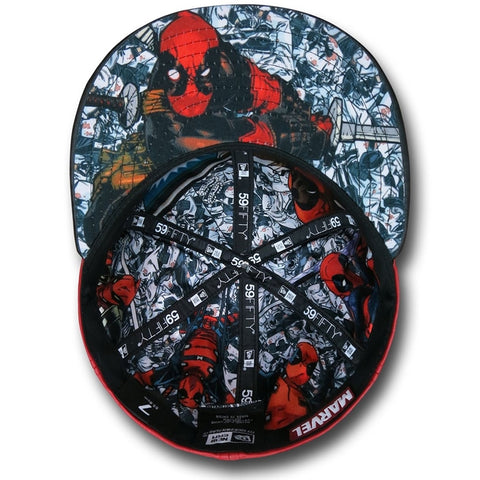 Marvel Deadpool Character Armor New Era 59Fity Fitted Cap – urban TEE f381b2de667