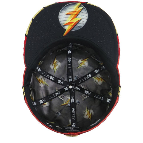 ... DC Comics Justice League Flash Character Armor New Era 59Fifty Fitted  Cap ... 2546c2cb5ed