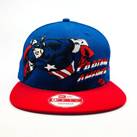 6a3a5e6f759 ... Marvel Captain America Hero Stance New Era 9Fifty Snapback Cap ...