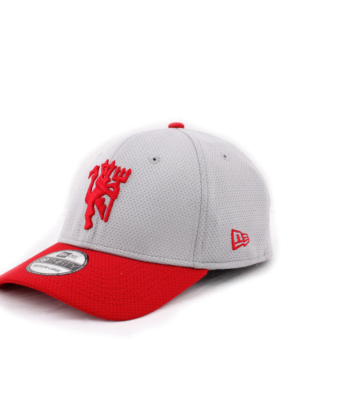Manchester United Red Devil Gray New Era 39Thirty Stretch Fitted Cap ... ee8d27079f48