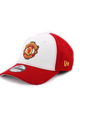 Manchester United Logo Red & White New Era 39Thirty Stretch Fitted Cap