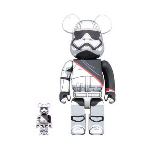 BEARBRICK 400% + 100% Star Wars VII The Force Awakens Captain Phasma