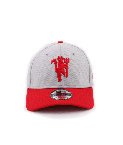 ... Manchester United Red Devil Gray New Era 39Thirty Stretch Fitted Cap ... c92c225fc967
