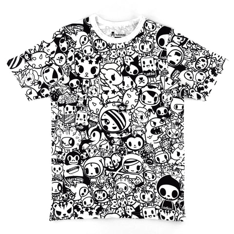 Tokidoki All-Over Character Doodle T-Shirt