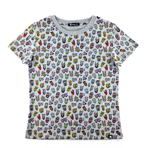 Tokidoki All-Over Moofia Melange Grey Female T-Shirt