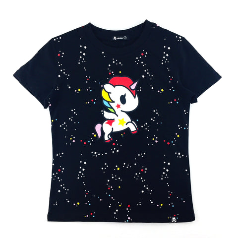 Tokidoki Unicorno Stellina Black Female T-Shirt