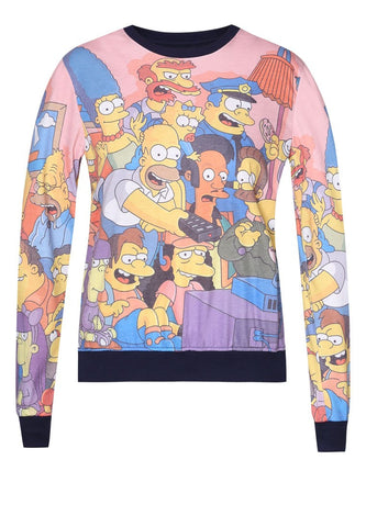 The Simpsons Watching TV Full-Print Sweater