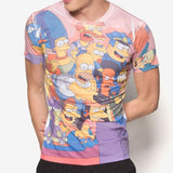 The Simpsons Watching TV Full-Print T-Shirt
