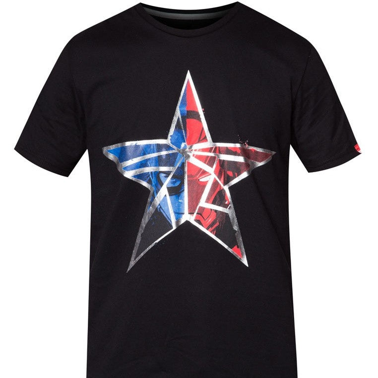 PREMIUM Marvel Civil War Split Star Logo T-Shirt