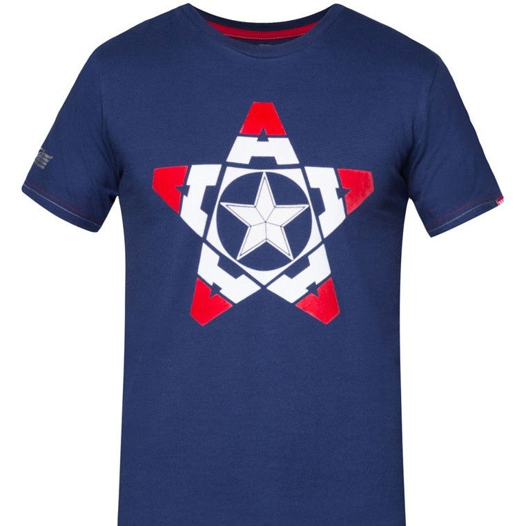 PREMIUM Marvel Captain America Glow-in-the-Dark Pentagon Shield T-Shirt