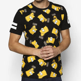 The Simpsons All-Over Bart Tag T-Shirt