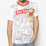 The Simpsons Bart Upside Down T-Shirt
