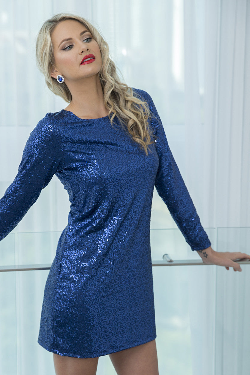SOLIS BACKLESS SHIFT SAPPHIRE