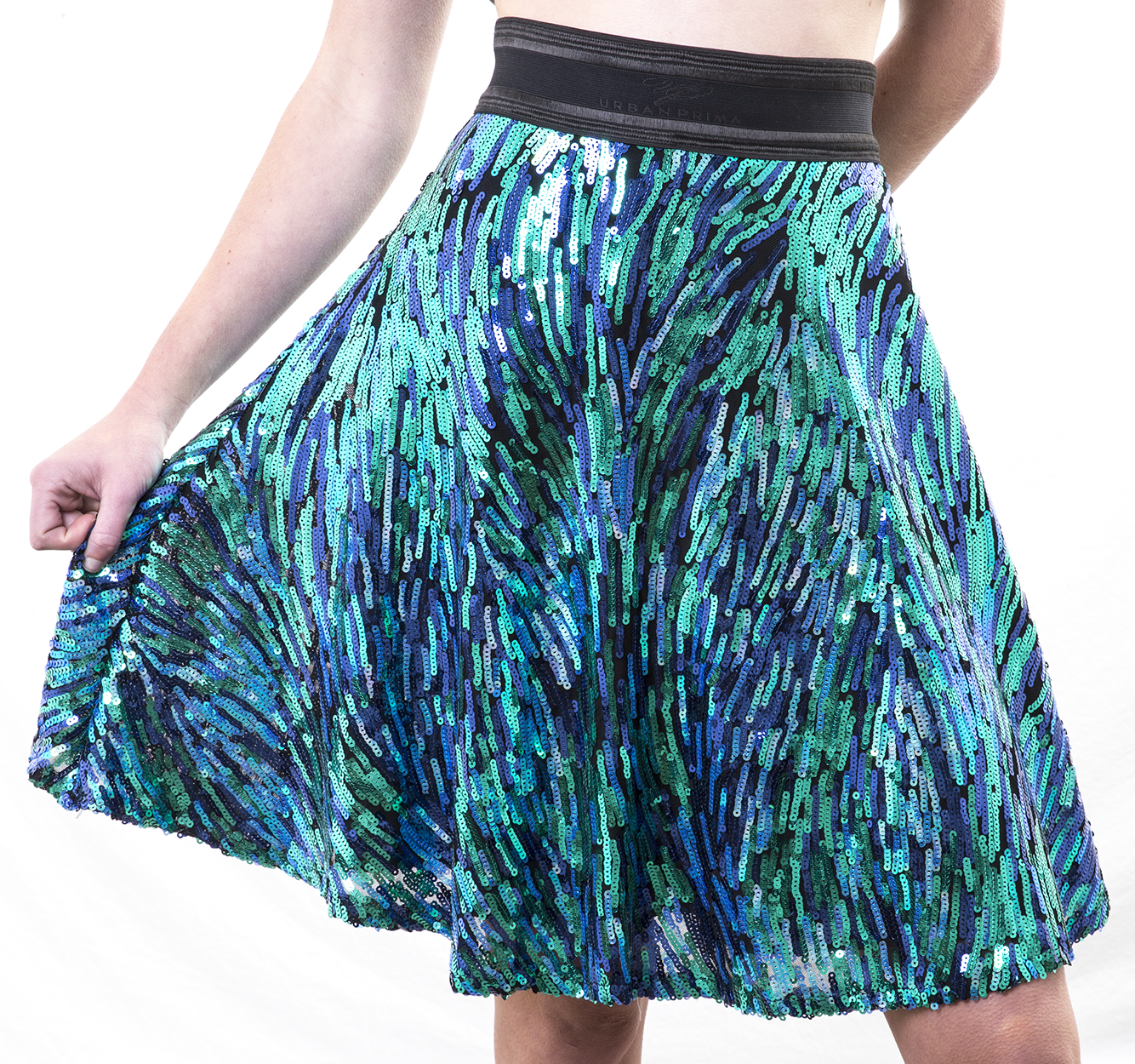 MERMAID SWIRLS COCKTAIL SKIRT