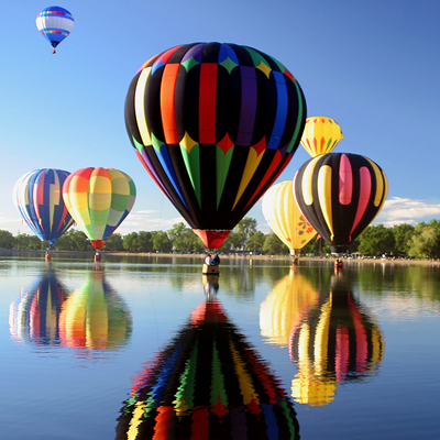 Hot air ballooning mass ascens