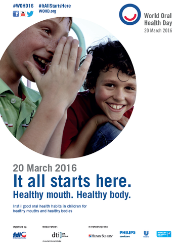 Support World Oral Health Day - a Healthy Mouth Makes a Healthy Body