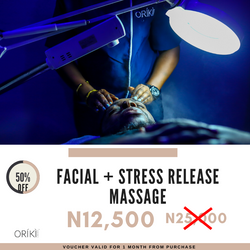 1/2 off Facial & Stress Release Massage_Black Friday
