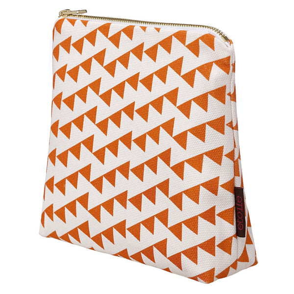 Bunting Cosmetic Bag - Pumpkin Orange