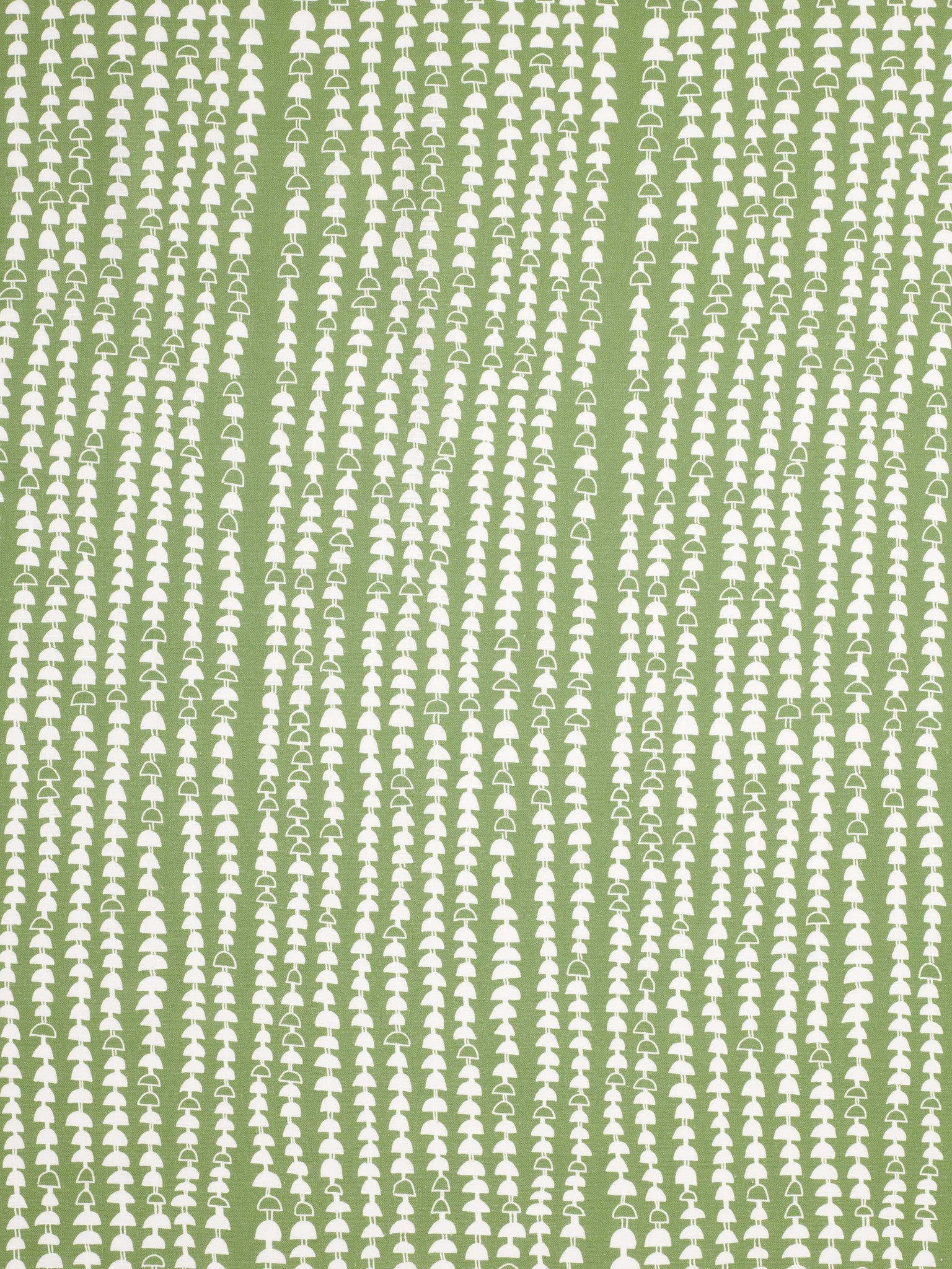 Hopi Graphic Strung Bead Pattern Cotton Linen & Canvas Fabric by the Yard in Avocado Green