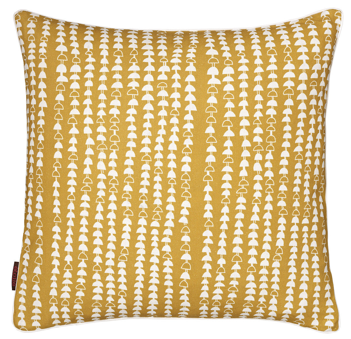 Hopi Graphic Pattern Cotton Linen Cushion in Gold