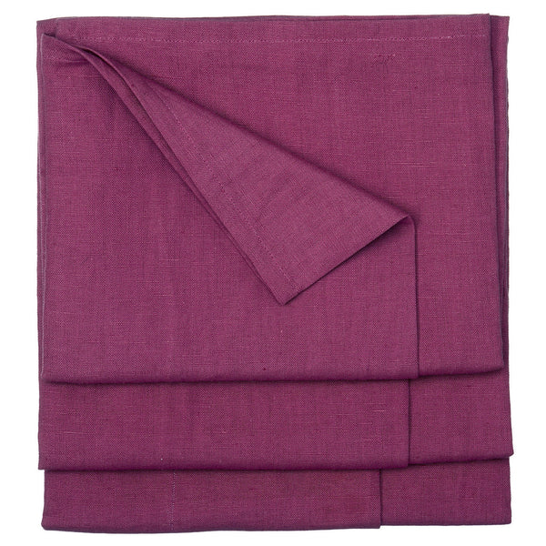Linen Cotton Union Tablecloth in Dark Heather Pink 52x76""