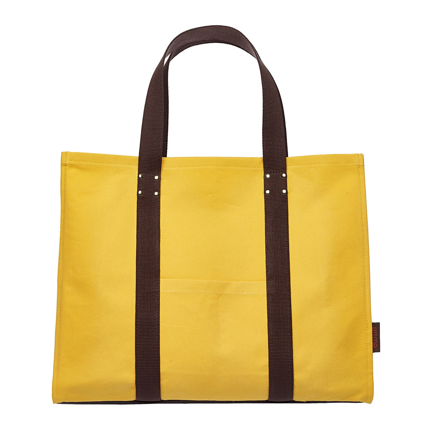 Eileen Coated Canvas Tote Bag in Bright  Maize Yellow