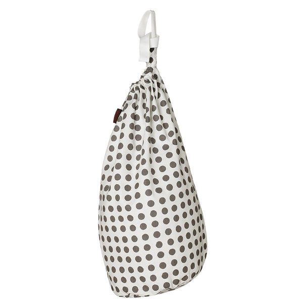 London Polka Dot Pattern Laundry & Storage Bag in Stone Gray